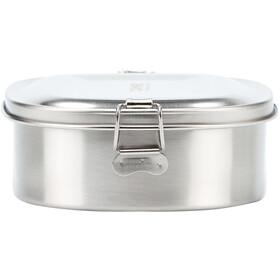 CAMPZ Madkasse i rustfrit stål L 1000 ml, sølv